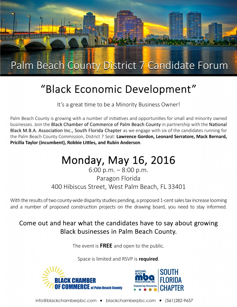 Palm Beach County District 7 Candidate Forum @ Paragon Florida   West Palm Beach   Florida   United States