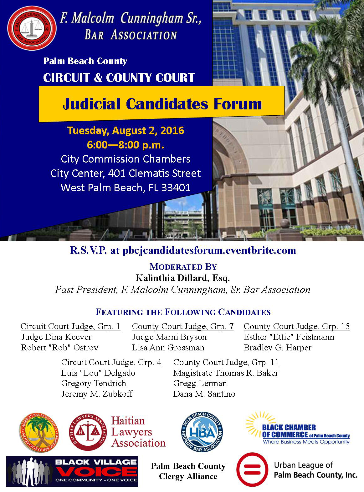 Palm Beach County Judicial Candidates Forum @ City of West Palm Beach Commission Chambers | West Palm Beach | Florida | United States