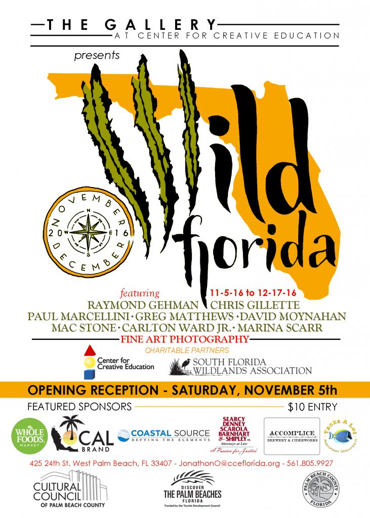 Wild Florida Art Exhibit @ The Gallery at Center for Creative Education | West Palm Beach | Florida | United States