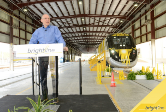 Behind The Scenes Look At the First Completed Brightline Train at Workshop b In West Palm Beach, Florida